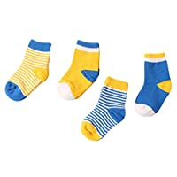 Scothen 6 Paar Säugling Baby Boys Girls Unisex Toddler Foot Socks Stripes Drop Solid Color Cotton Socks Autumn Spring Baby Socks Kids Socks Sweet Socks