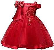 TTYAOVO Vestido de Princesa con Bordado sin Mangas para Niñas de Flores Fiesta de Dama de Honor de Boda Vestid