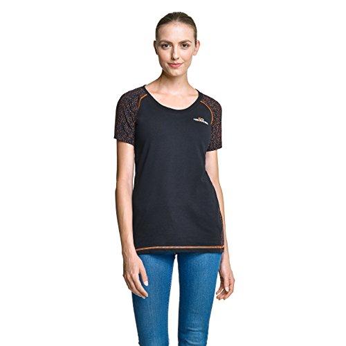 NoOrange Damen T-Shirt schwarz, sportliches Kurzarmshirt mit hohem Baumwollanteil, XL Preisvergleich
