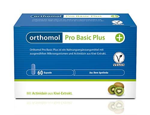 Orthomol Pro Basic Plus 60er Kapseln - Nahrungsergänzungsmittel mit Mikroorganismen wie Probiotika aus Kiwi-Extrakt