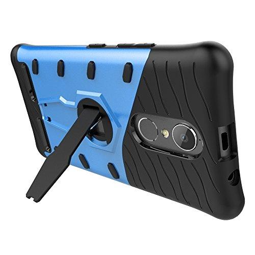 Power Shock-Resistant 360 Grad Spin Sniper Hybrid Case TPU + PC Kombi-Gehäuse mit Halter für Lenovo K6 / K6 by diebelleu ( Color : Black ) Blue