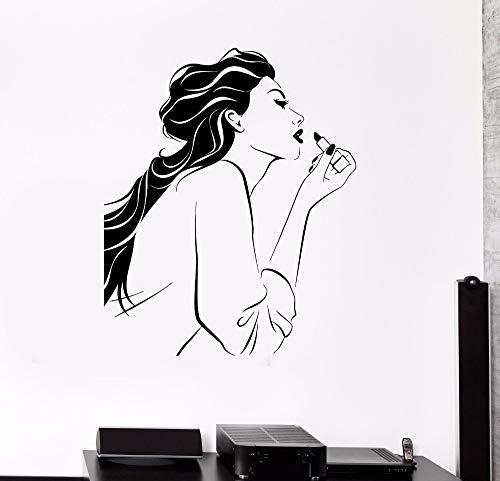 schönheit und lippenstift - aufkleber wand aufkleber home decor wohn - und schlafzimmer einer diy - kunst - tapete