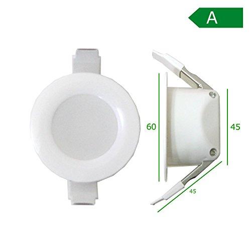 LED Einbaustrahler super flach 230v – auch geeignet für Bad, Außenbereich IP44 - erhältlich in warmweiß kaltweiß neutralweiß 60 und 85mm Durchmesser - Rund Spot - (kaltweiß - 6cm - 4W)