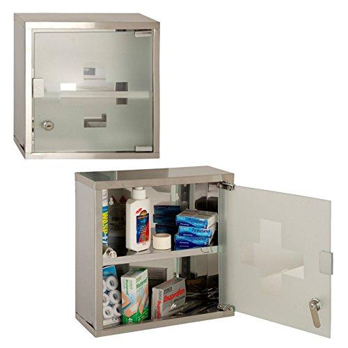 Porte verrouillable fixée au mur de verre de boîte de secourisme de Cabinet de Cabinet de clés de 2 clés (gris)