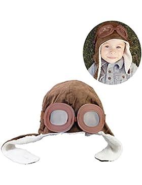 Nuevo bebé del invierno con orejeras Piloto Aviador Cap-Brown