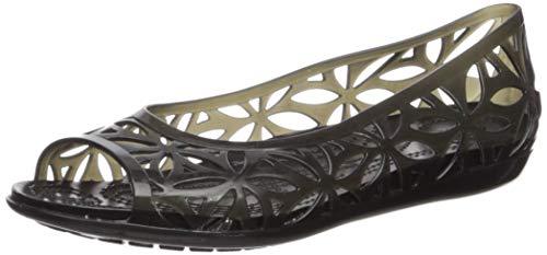 Crocs Isabella Jelly II Flat Women, Damen Sandalen, Schwarz (Black/black), 37/38 EU - Jelly Flat
