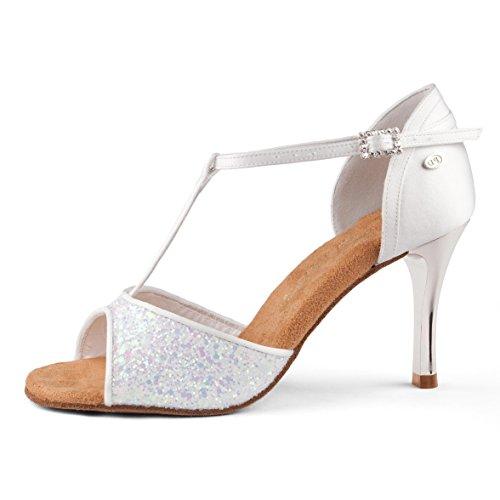 PortDance - Damen Tanzschuhe PD600 Fashion [Weiß, 7 cm] Größe 36