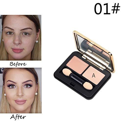 Kit de maquillage en surbrillance pour fond de teint crème fond de teint crème fond de teint crème 6 cosmétiques