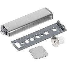 Fdit 4 Pcs Cerraduras de Puerta Táctil de Acero Inoxidable Cerrado Búfer Caja de Puerta Bisagras