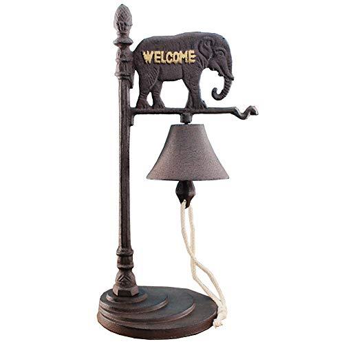 Sungmor Vintage Cheval et éléphant en Fonte de Bureau Sonnette Sonnette de Table en Fer forgé Décorations pour Bar, Restaurant, café, Villas, etc, éléphant