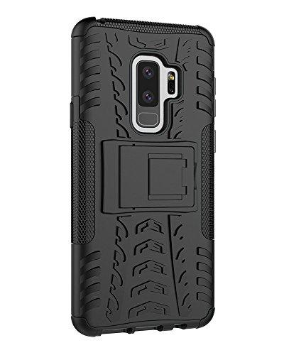 Galaxy S9Plus Fall, S9Plus Fall, Moment dextrad [mit Integriertem Ständer] [Rutschfeste Design] Dual Layer Hybrid Ganzkörper-Rugged [stoßfest] Schutz Cover für Samsung Galaxy S9Plus, Schwarz (Phones Samsung T-mobile Cell)
