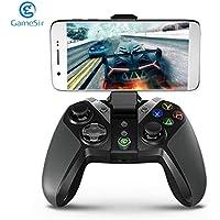 SeniorMar GameSir G4 Bluetooth Gamepad con el sostenedor del teléfono para Android TV Box Tableta del teléfono con Cable o el regulador inalámbrico para los Juegos de PC VR