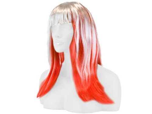 Parrucca liscio a lungo Fasching tutti colore Carnavale, langhaar glatt länder:rot weiß_2