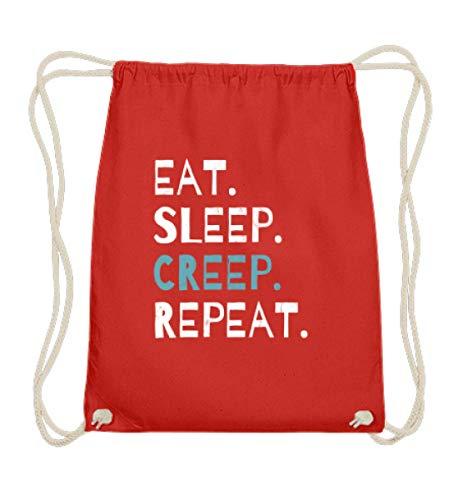 Eat Sleep Creep Repeat - An Halloween das wahre gruselige schreckliche Ich zeigen - Baumwoll Gymsac