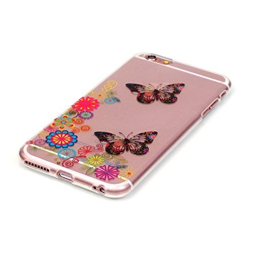 Für iPhone 6 Plus/6S Plus 5.5 Zoll [Scratch-Resistant] Weichem Handytasche Weich Flexibel Silikon Hülle,Für iPhone 6 Plus/6S Plus 5.5 Zoll TPU Hülle Back Cover Schutzhülle Silikon Crystal Kirstall Dur Muster #12
