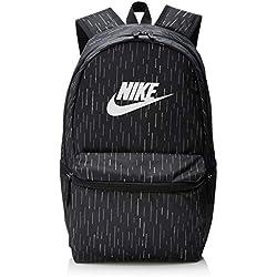 Nike Unisex Nk Heritage Bkpk - Mochila Aop, Schwarz (negro / negro / vela), talla única