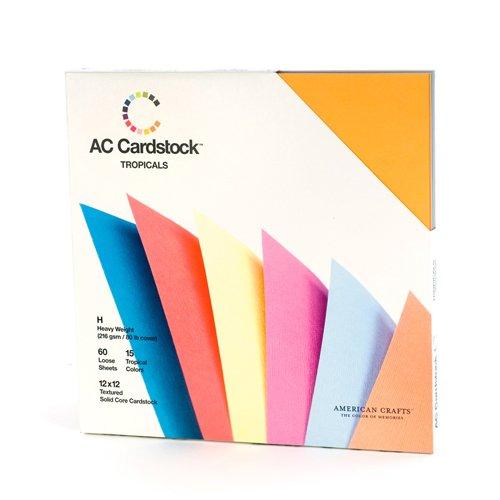 americani-crafts-12-x-12-pollici-tropicals-stagionale-cartoncino-pack-un-pacchetto-di-60-multi-color