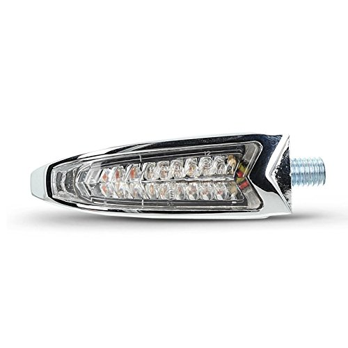 Motorrad LED Blinker/ Rücklicht KTM 125 Duke Highsider ARC Paar verchromt