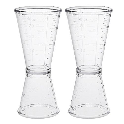 oppel Klar Plastik Schnapsgläser Trinken Maßnahme Tasse Küche Werkzeug DE de ()
