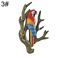 puran 3D Parrot Clothes Multifunction Hook Hanger Towel Kitchenware Racks Hanger Organizer Home Wall Ornament Yard Garden Decor