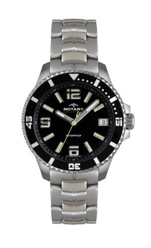 Rotary Herren - Armbanduhr Analog Quarz AGB00074/W/04