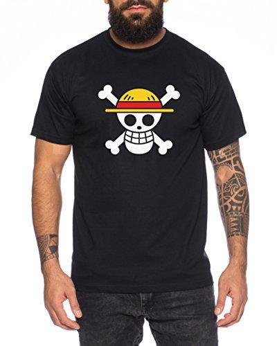 Ruffy Logo Camiseta de Hombre Luffy Zoro One Nami Lysop Piece, Farbe2: