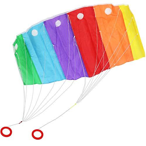com-four® Zweileiner Lenkmatte - Wind-Drache mit 50 Meter Langer Schnur - Flug-Drachen für Kinder und Erwachsene [Auswahl variiert] (01 Stück - Lenkmatte 120 x 55 cm)