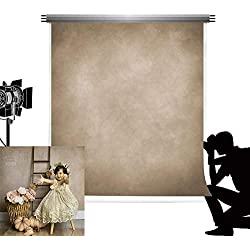 Kate 6.5x10ft/2x3m Light Brown Photo Toile de Fond Photographie en Microfibre Réutiliser Abstrait pour Studio de Photographie