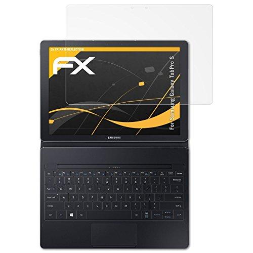atFolix Panzerfolie kompatibel mit Samsung Galaxy TabPro S Schutzfolie, entspiegelnde & stoßdämpfende FX Folie (2X)