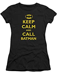 Batman Keep Calm Women's Shirt Black