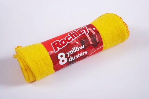 Rochley Yellow Duster 614378 Standard, confezione da 6 pezzi