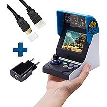 Neo Geo Mini International Konsole 40th anniversairy inkl. 7m HDMI KABEL, AC ADAPTER UND SCHUTZHÜLLE VON LOCKNESS®