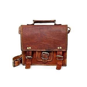 9 Zoll handgemachte echtes Leder-Damen-Schultaschen-Geldbeutel-Handtasche, lederne Umhängetasche für Frauen
