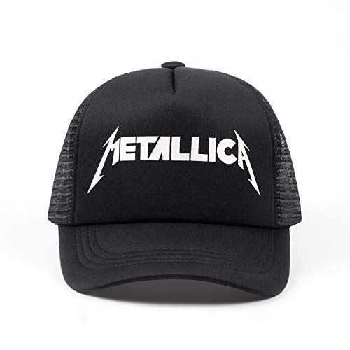 AAMOUSE Gorra de Beisbol  Mujeres Hombres Cool Rock Blackbaseball Gorras Metallica Band Fans Cap Metal Rock Music Fans Cottonbaseball Trucker Caps Hat