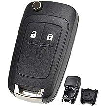 XUKEY 2 Botones de Repuesto para Llave de Coche para Opel Vauxhall Adam Astra J Insignia