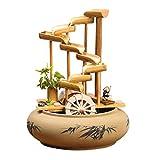 Mai tank Fuente de Agua Inicio Bambú Rueda de Viento Humidificador Regalo de Boda Regalo Creativo Adornos del Tanque de Peces (Color : 28 * 28 * 35cm)