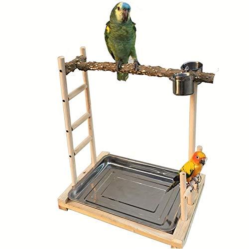 Fanvone Alimentador de Aves Bird Soporte de Madera for la Formación de Formación de Aves Ornamentales...