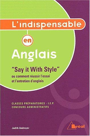 L'indispensable en anglais.