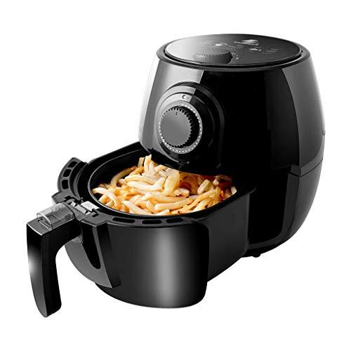 Tragbare 2,6 Liter Luftfritteuse für ölfreies und Fettarmes Kochen - 80-200 ° C Einstellbare Temperatur / 30-Minuten Timer/Waschbarer Küchen Kompakt Tiefofen, 1200 W