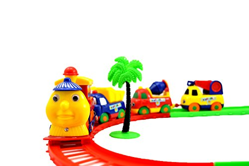 Breno Train Toy Set with tracks and one tree for decoration for kids Multi color