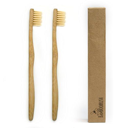 BeeClean Bamboobrush Set aus 2 Ökologischen Kinder Zahnbürsten - 100% Bambus