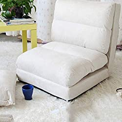 QTQZ Mezcla de Lino sofá Cama Plegable a Rayas mediterráneo con sofá Plegable de la Silla de Cubierta (Opcional) (Color: B)