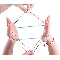 Toyland® Cradle Cradle - Berceau du Chat - Art Magique des ficelles - Astuces Multicolores - Jouets rétro (Jaune)