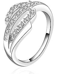 sunifsnow Mujer Simple Encanto Ruili 925bañado en plata diamante especial anillo de regalo de vacaciones