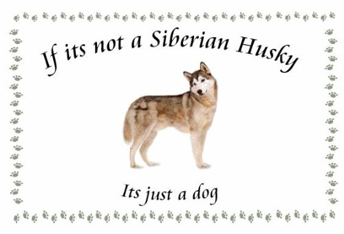 Siberian Husky – Novelty Dog keyrings – If its not
