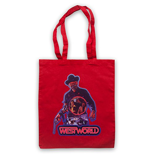 Inspiriert durch Westworld Yul Brynner Inoffiziell Umhangetaschen Rot