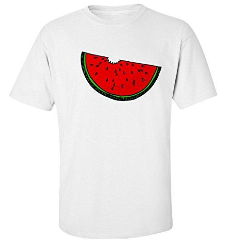 Savoureux pastèque t-shirt homme blanc coton (S)