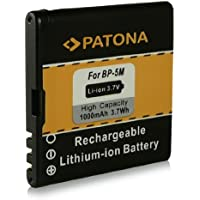 Battery BP-5M | BP5M for Nokia 5610 | 5610 XpressMusic | 5700 | 5700 XpressMusic | 6110 Navigator | 6220 classic | 6500s | 6500 slide | 7290 | 7390 | 8600 Luna and more… [ Li-ion, 1000mAh, 3.7V ]