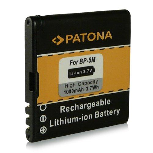 Batteria BP-5M | BP5M per Nokia 5610 | 5610 XpressMusic | 5700 | 5700 XpressMusic | 6110 Navigator | 6220 classic | 6500s | 6500 slide | 7290 | 7390 | 8600 Luna e più… [ Li-ion, 1000mAh, 3.7V ]