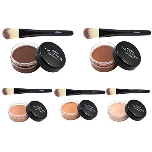 B Blesiya 5 Unids Paleta de Corrector Maquillaje Polvo de Sombra de Ojos Pincel Brush de Polvos Sueltos Aplicadores